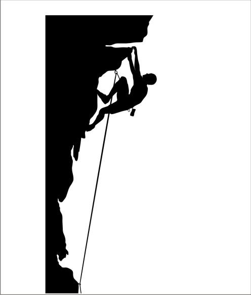 Wallclimbing clip art.