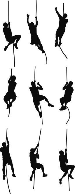 People climbing clipart.