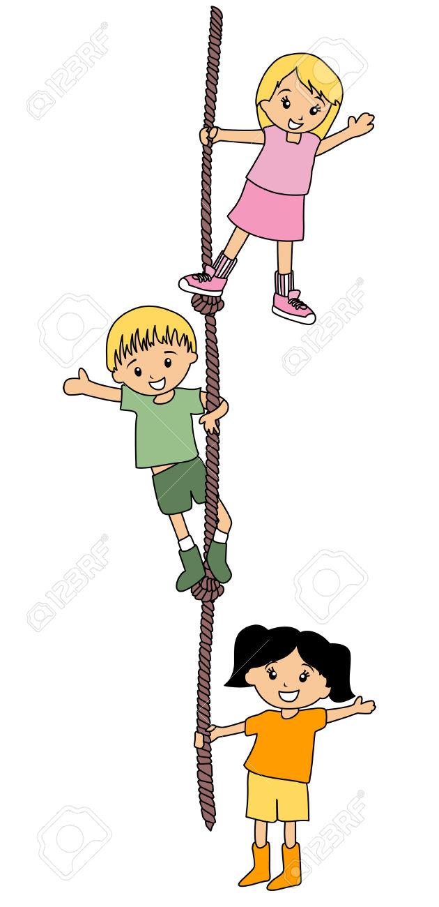 Rope Climbing Clip Art.