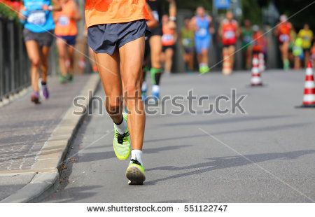Competitive Walking Stock Photos, Royalty.