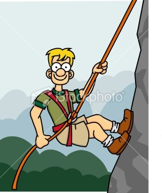 Mountain Climbing Rope Clip Art.