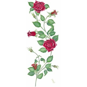 Free vining roses background clipart.