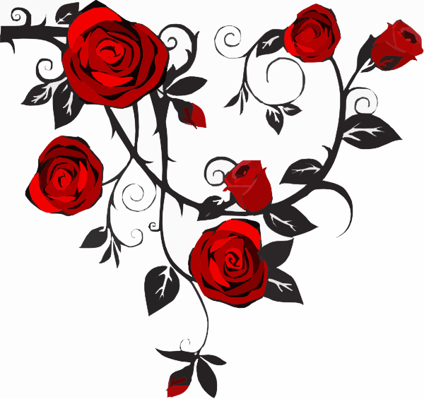 Rose Viness Frames Clipart.