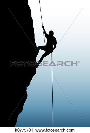 Clipart of Rock climbing k0775701.