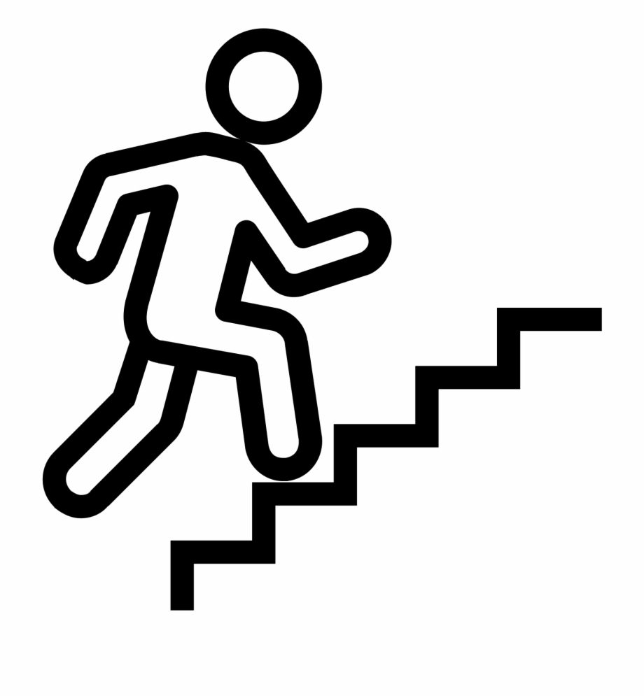 Climbing Stairs Svg Png Icon Free Download.