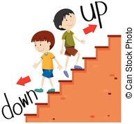 Walking up stairs Clipart and Stock Illustrations. 2,774 Walking up.