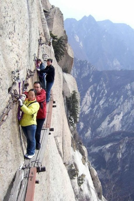 Don't look down: a glimpse at the world's scariest hikes.