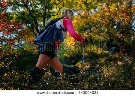 Nordic Walking Stock Photos, Royalty.