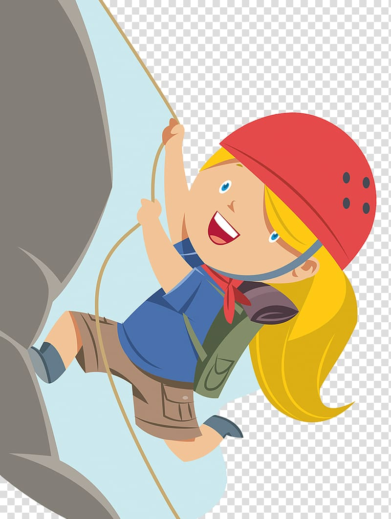 Climbing transparent background PNG cliparts free download.