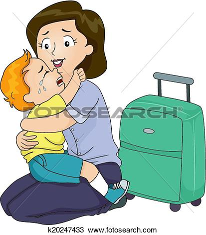 Clipart of Separation Anxiety k21302614.