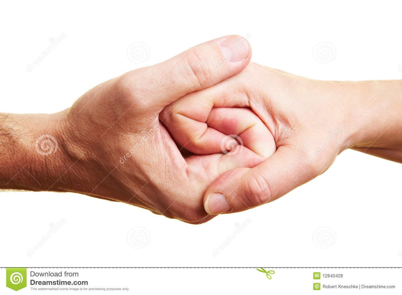Two Clinging Hands Royalty Free Stock Photos.