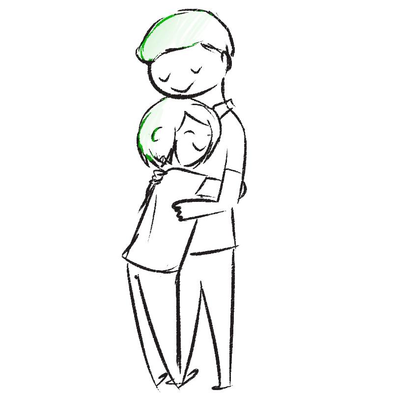 comic hug comics hugging akemijo im not clingy srs u gaiz.