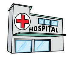 Clinic Building Clipart.