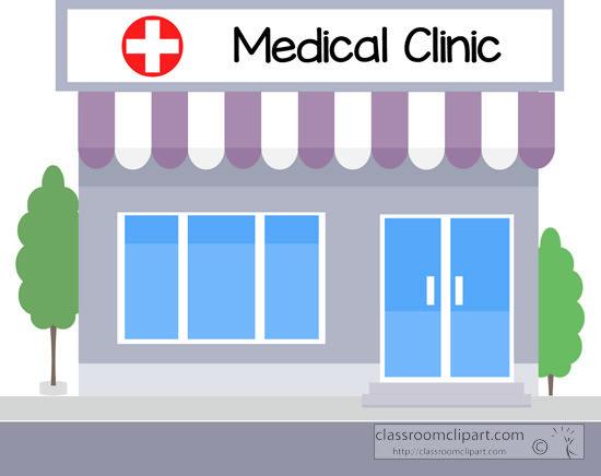 Medical Clinic Building Clip Art.