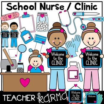 School Nurse & Clinic Clipart.