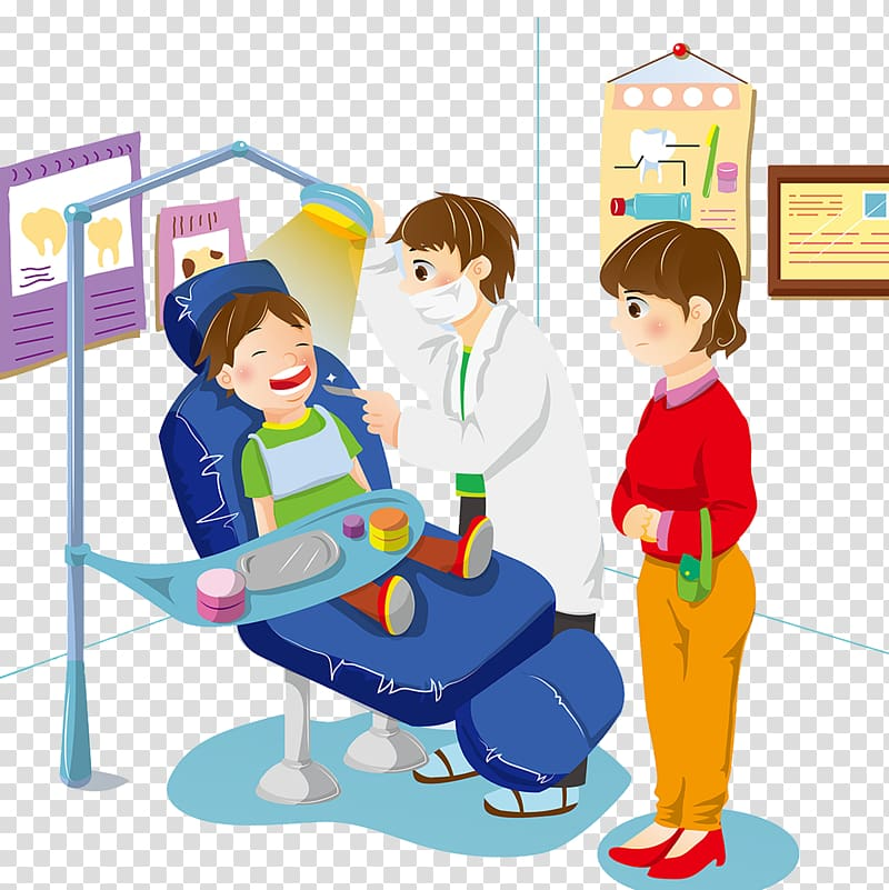 Dentist clinic transparent background PNG clipart.