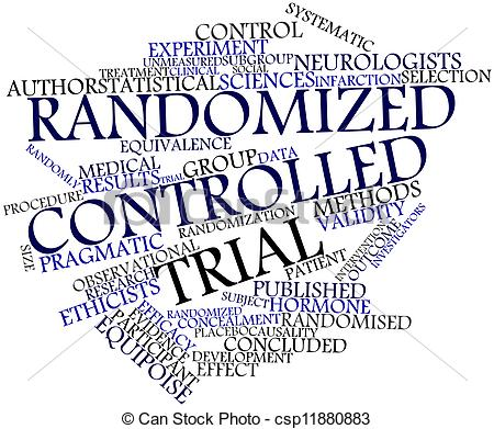 Stock Illustration of Randomized controlled trial.