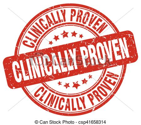 Vector Clip Art of clinically proven red grunge stamp csp41658314.