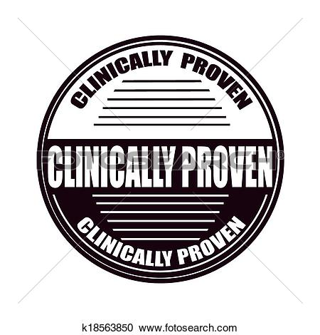 Clipart of clinically proven k18563850.