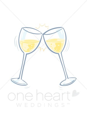 Clinking glasses clipart.