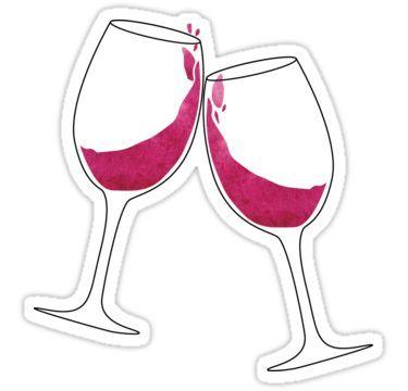 Clinking Wine Glasses Sticker in 2019.