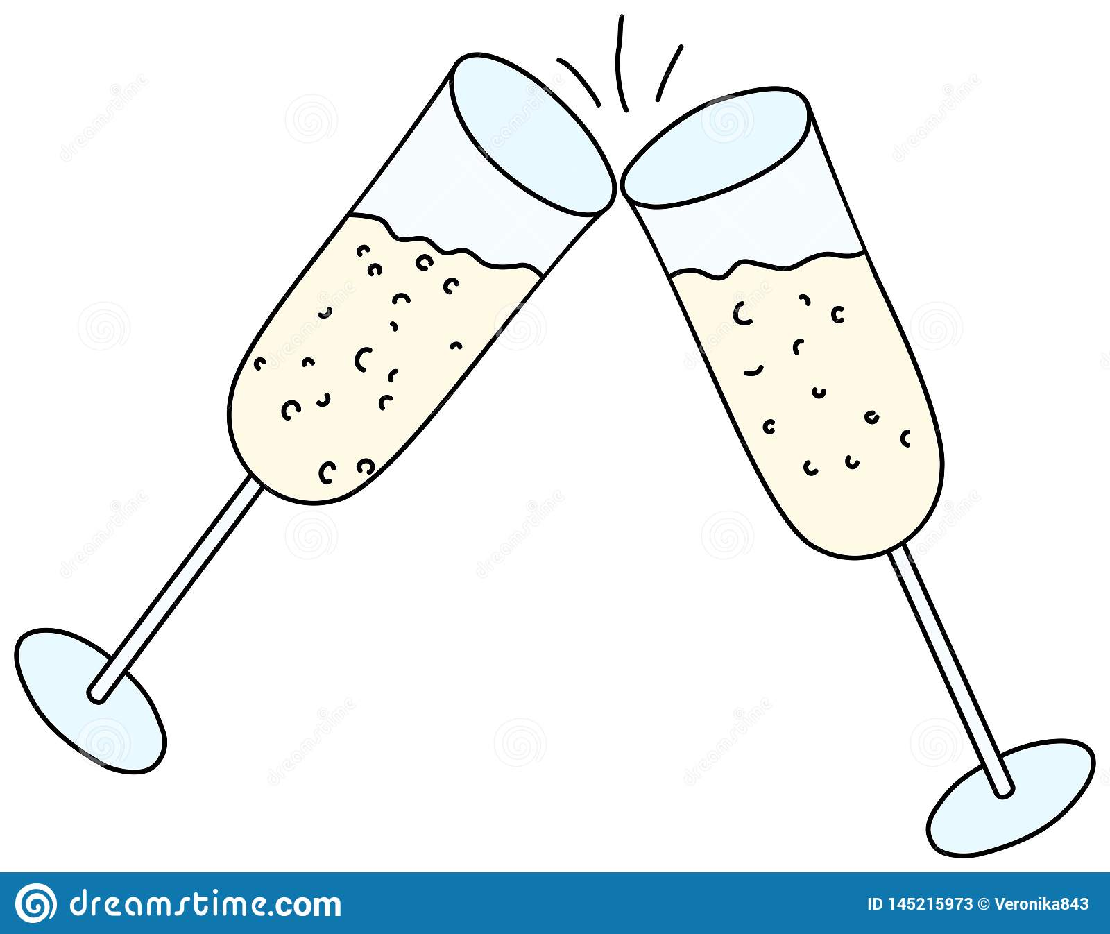 Touch clink glasses stock vector. Illustration of toast.
