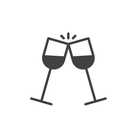 Wine glasses clinking clipart 3 » Clipart Portal.