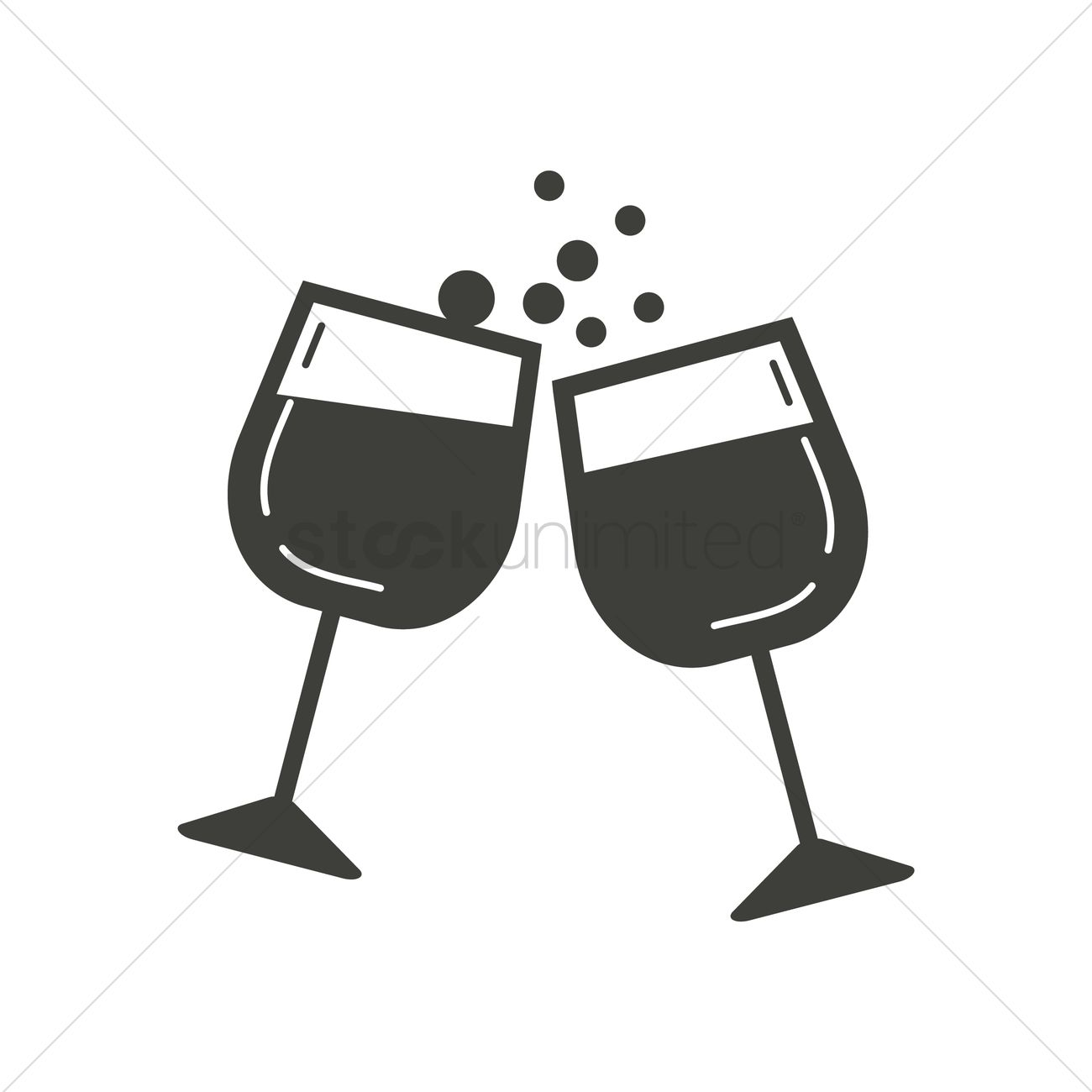 Clinking wine glasses Vector Image.