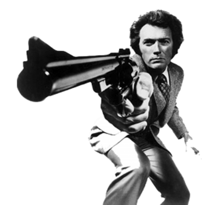 Clint Eastwood Dirty Harry transparent PNG.