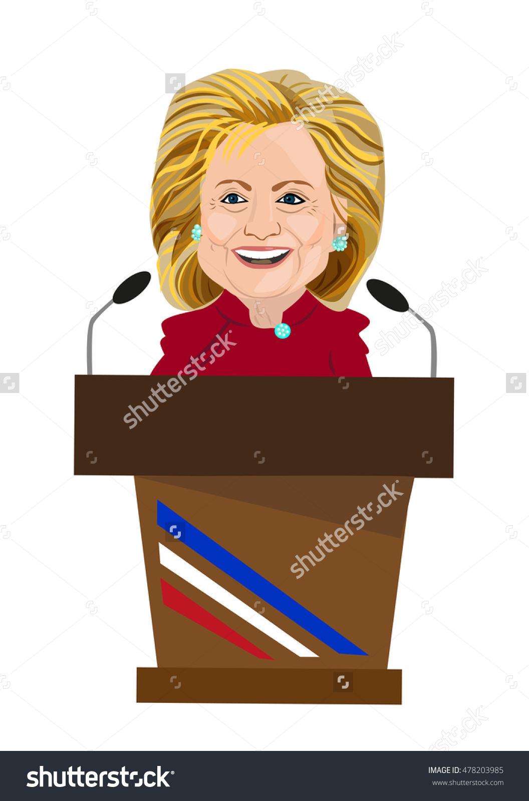 September 4 2016 Caricature Hillary Clinton Stock Vector 478203985.