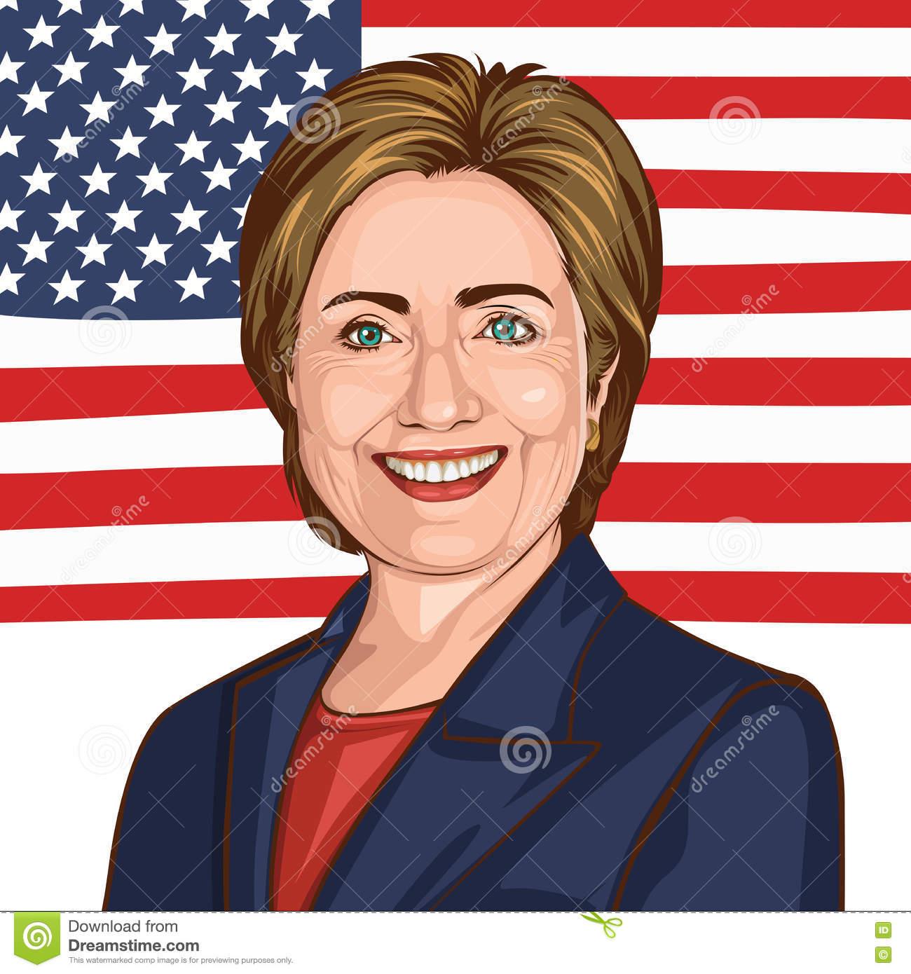 Hillary clinton head clipart.