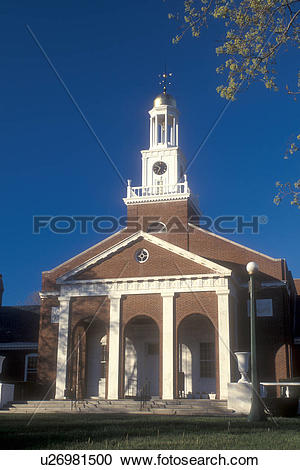 Stock Photography of Connecticut, Town Hall in Clinton.