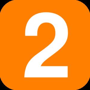 Number 2 Orange Clip Art at Clker.com.