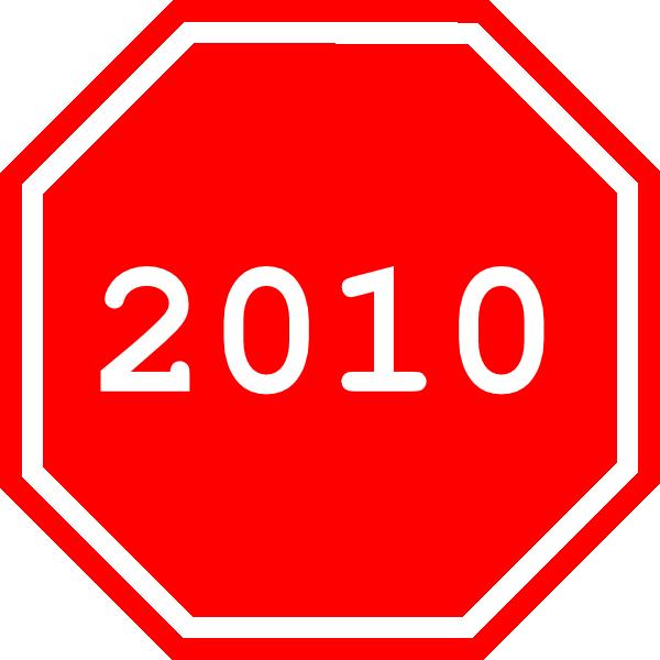 2010 Sign Clip Art at Clker.com.