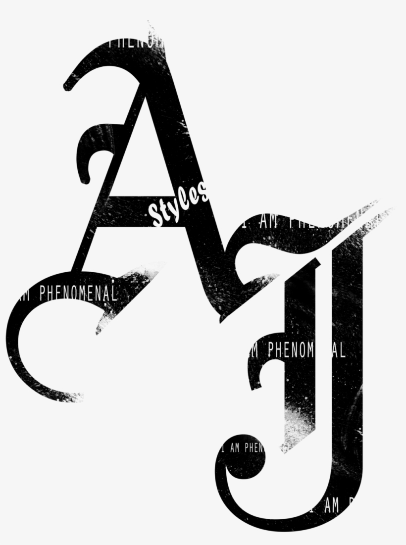 Clip Art Aj Styles 2016 Black Logo Png By Ambriegnsasylum16.