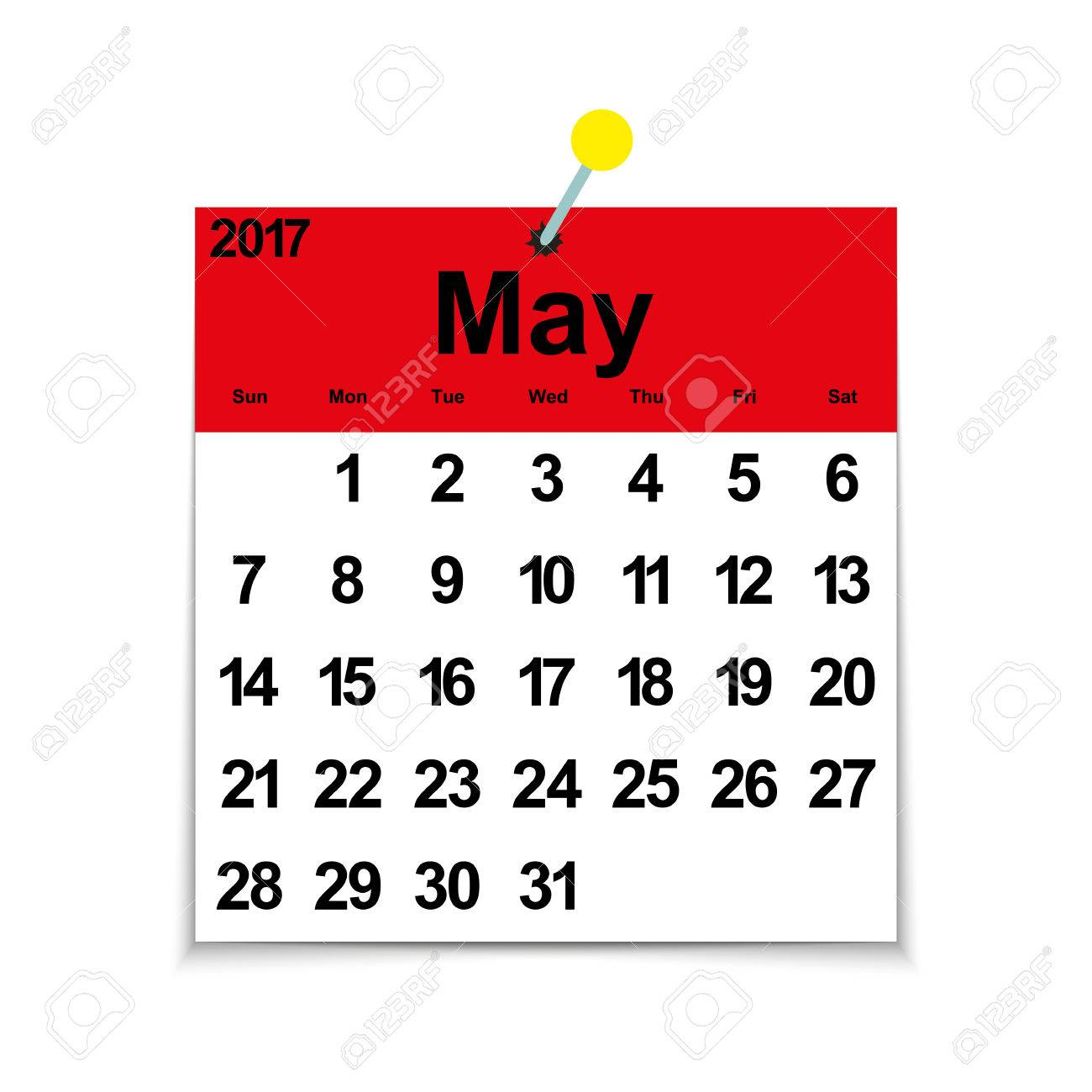 Free Calendar Clipart may 2017, Download Free Clip Art on Owips.com.