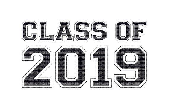 Class of 2019 SVG Printable Clipart Graduation Cut File Scrapbooking.