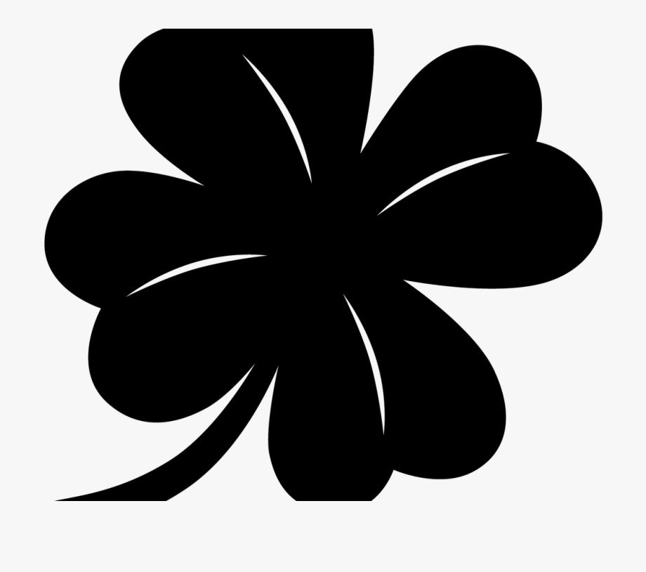 Clip Art 4 Leaf Clover Clipart Black And White Clipartfest.
