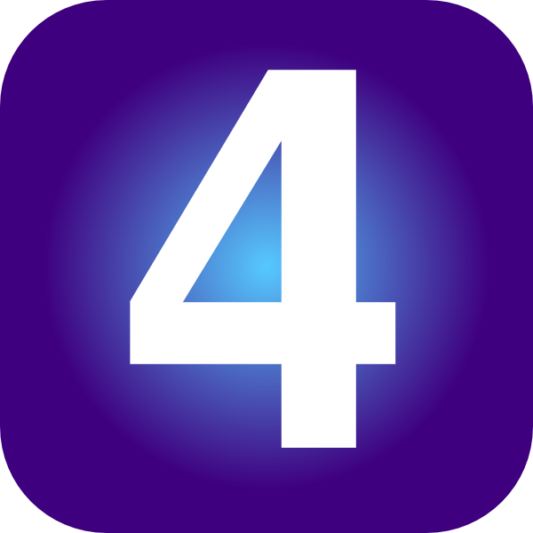 13+ Number 4 Clipart.