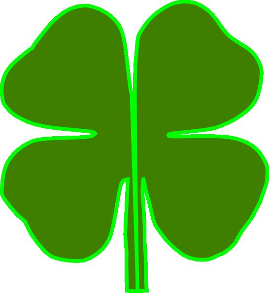 4 Leaf Clover Divided In Half Clip Art at Clker.com.