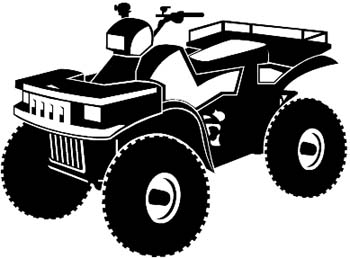 Four Wheeler in silhouette vinyl sticker. Personalize on line. 4.