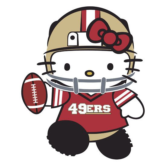 Download 49ers hello kitty clipart San Francisco 49ers Dallas.