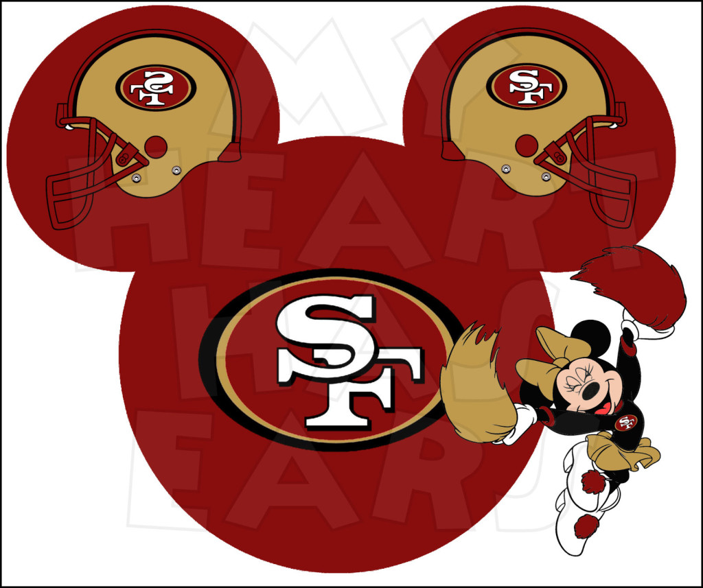 49ers Mickey Mouse Clip Art free image.