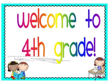 Welcome to 4th Grade Signs by lovingliteracy.