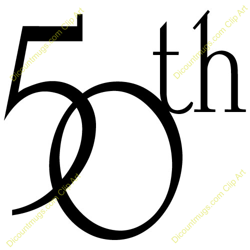 Free Clipart Images 50th Birthday.