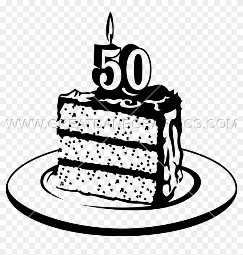 50th Birthday Cake Png.