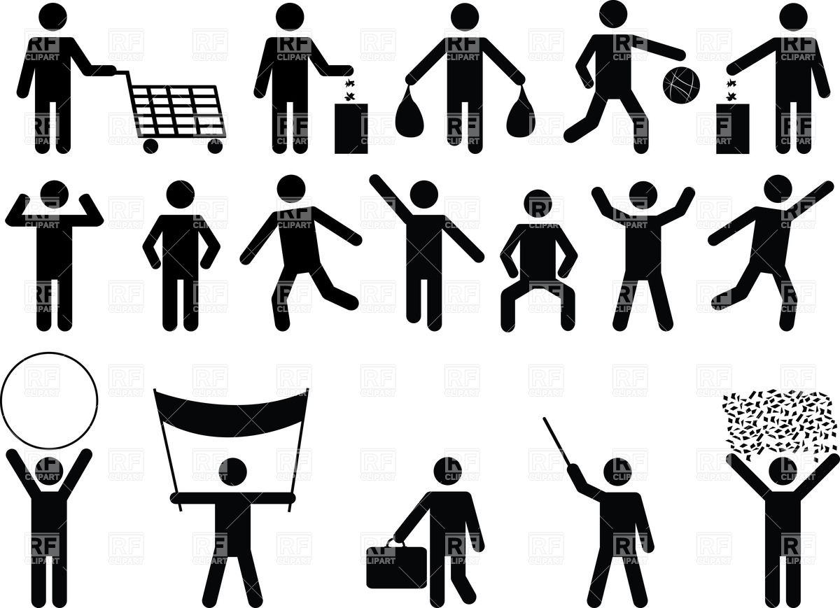 Human pictograms.