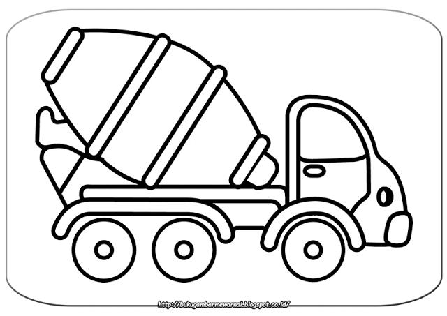 Gambar Mewarnai Mobil Molen.