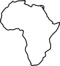Map of The Continent of Africa: Where SO many animals, (that are.