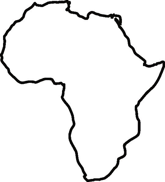 Africa Outline Clip Art.